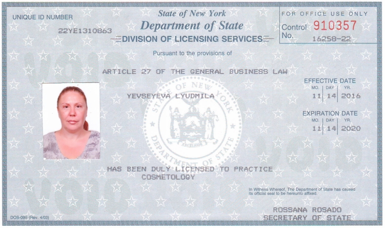 nail technician license new york state